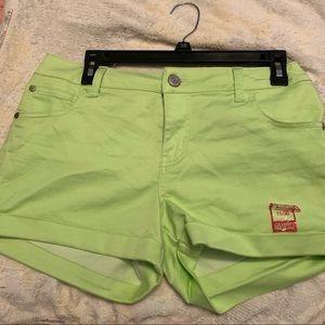 Lime Green Shorts (Juniors 11)